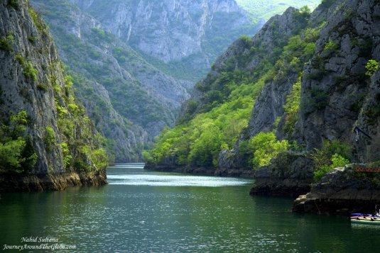 Stunningly beautiful Matka Canyon and Lake in Macedonia
