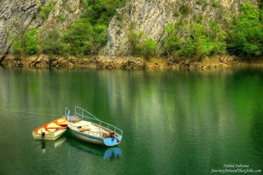 Matka Canyon boat rental dock, Macedonia