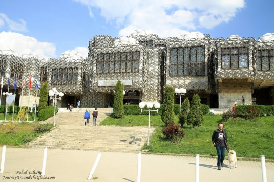 Unique building of University of Pristina Library
