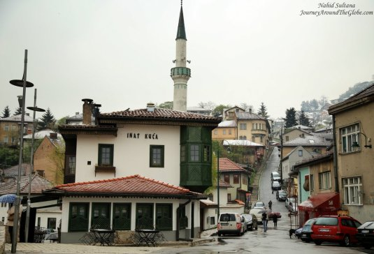 Our hotel was on this slope in Sarajevo, very close to Town Hall