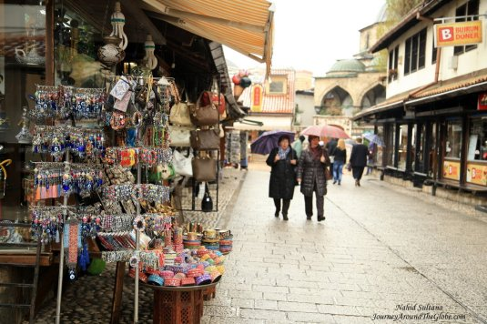 Old Town or the Turkish quarter of Sarajevo