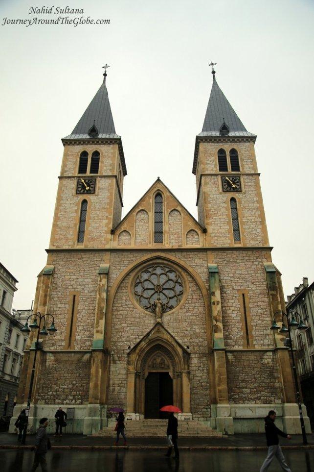 Sarajevo Cathedral in the old town of Sarajevo