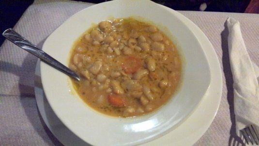 Fasule - an Albanian beans soup we had in Tirana, Albania