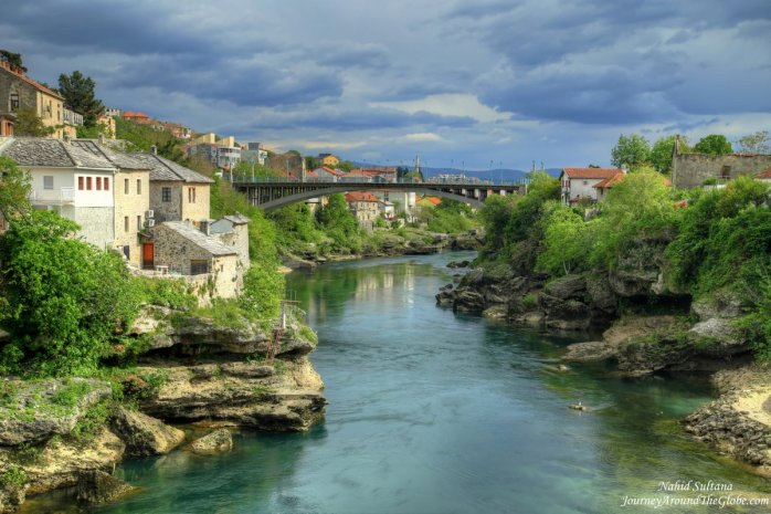 A stunning view from Stari Most in Mostar, BiH