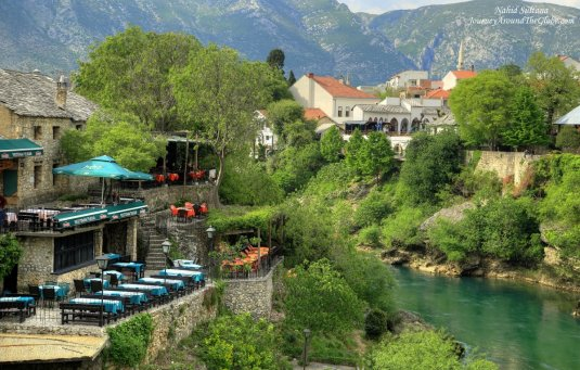 Mostar - a picturesque small town in Bosnia and Herzegovina