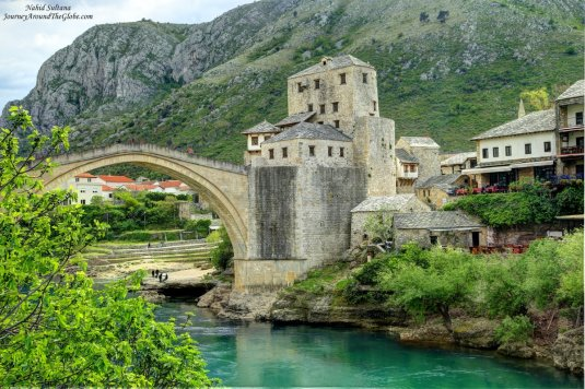 Stari Most and its towers in Mostar, BiH