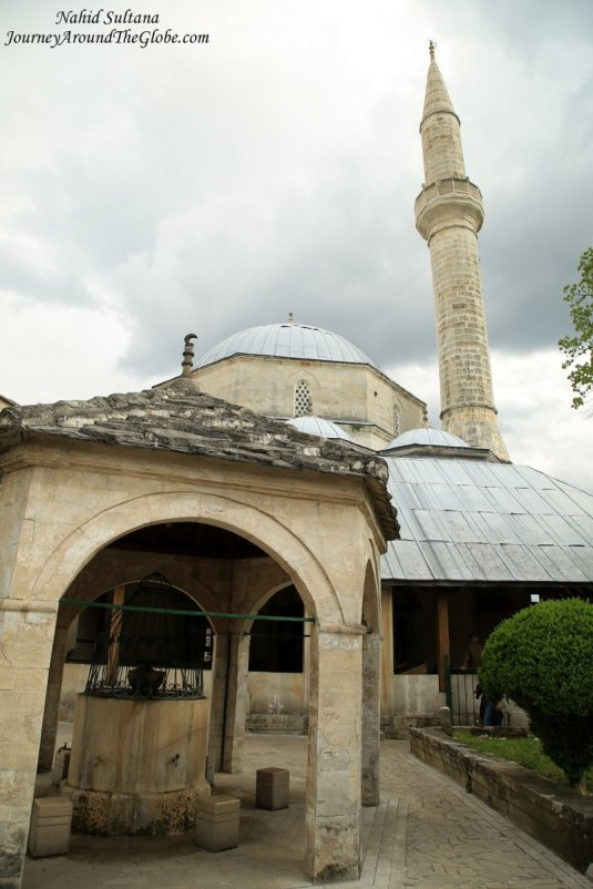 Koski Mehmet Pasha Mosque - an Ottoman style mosque in Mostar, Bosnia and Herzegovina