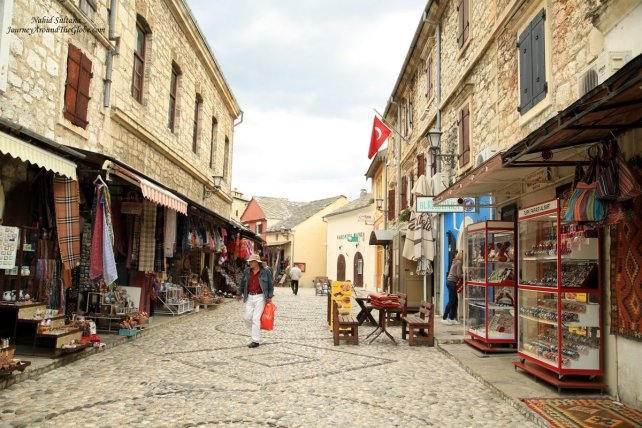 Old town and bazaar of Mostar in Bosnia