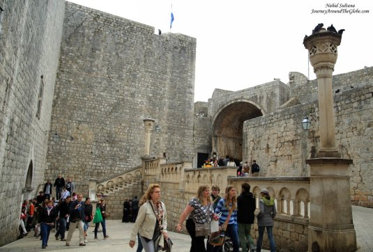 Pile Gate - a grand entrance to the Old Town of Dubrovnik in Croatia