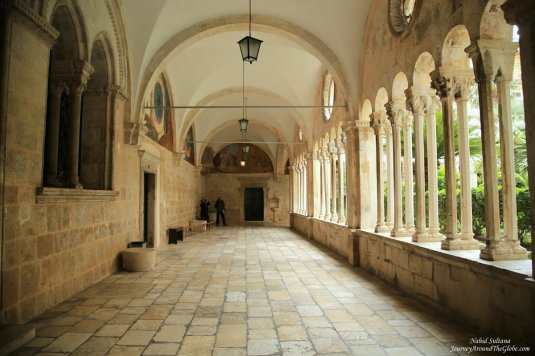 Romanesque cloister of Franciscan Monastery in Dubrovnik, Croatia