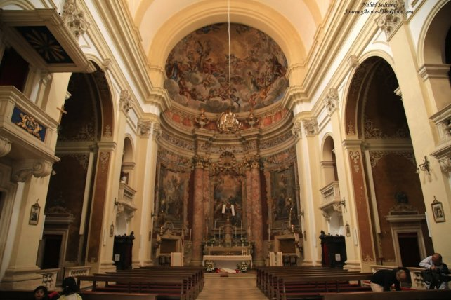 St. Ignatius Church - a 18th century Jesuit Church in Dubrovnik, Croatia