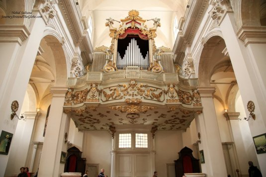 Grand organ of Dubrovnik Cathedral in Croatia