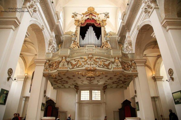 Grand organ of Dubrovnik Cathedral in Croatia