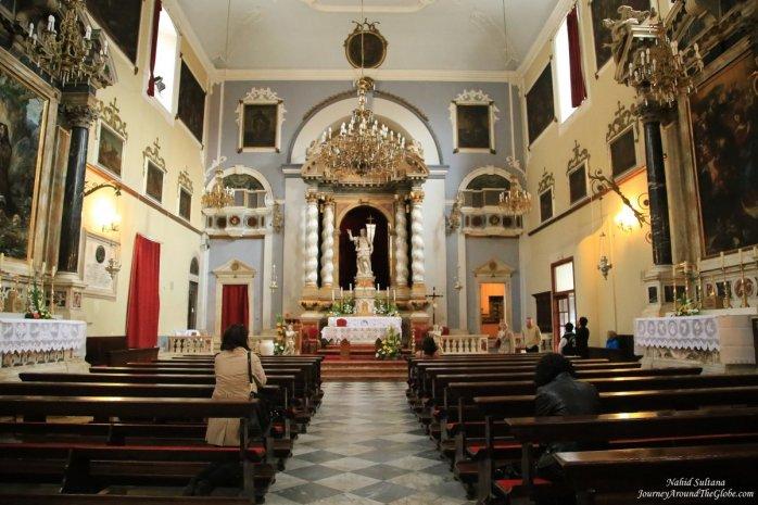 Church of St. Saviour - a 16th century gorgeous church near Pile Gate in Dubrovnik, Croatia