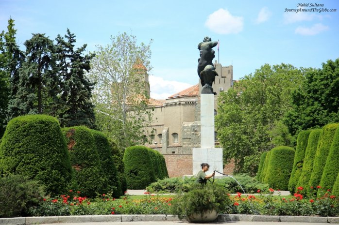 Monument of Gratitude in front of Kalemagdan in Belgrade, Serbia