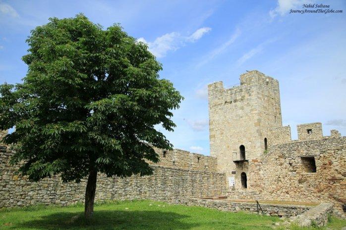 A medieval tower in Kalemagdan in Belgrade, Serbia