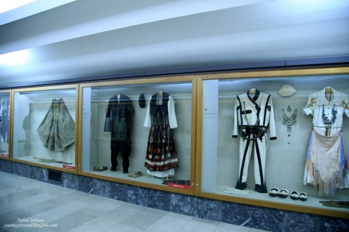 Traditional Balkan costumes in Ethnographic Museum in Belgrade, Serbia