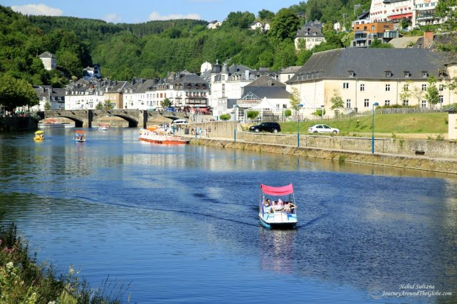 Walking by River Semois in Bouillon, Belgium