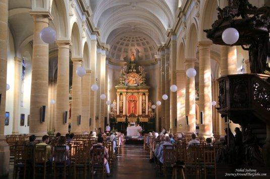 The unknown church in Bouillon, Belgium