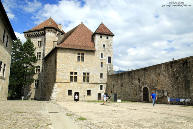 Entering Annecy Castle which was once the residence of the Counts of Geneva in the 13th and 14th centuries