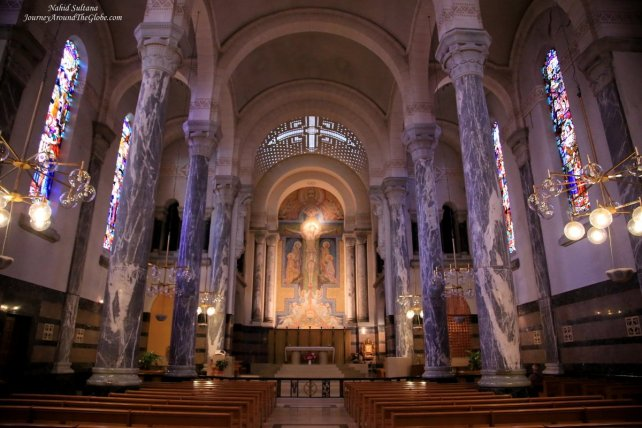 Inside Basilique de la Visitation in Annecy, France