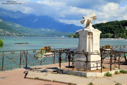 A Sundial from 1822 in Quai Napoleon III by Lake Annecy in France