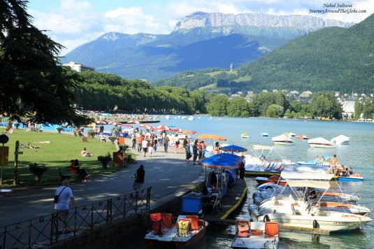 Standing on Pont des Amours in Annecy, France