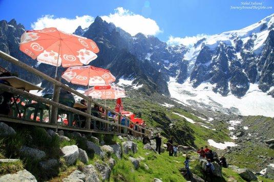 Plan de Aiguille on Mont Blanc massif in France