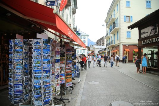 A souvenir shop in Chamonix, France