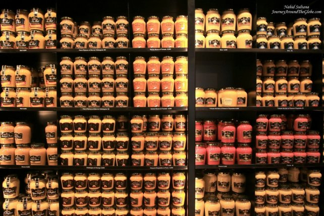 "A mustard shop ""Maille"" on Rue de la Liberte in Dijon, France"