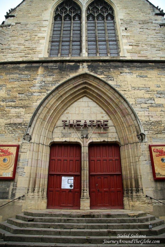 An old entrance of Theatre Dijon-Bourgogne in Dijon, France