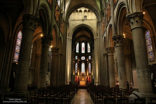 Notre Dame Church - a 13th century church in Dijon, France