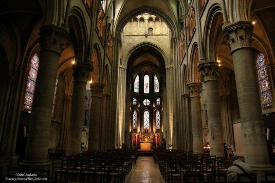 Notre Dame Church - a 13th century church in Dijon, France