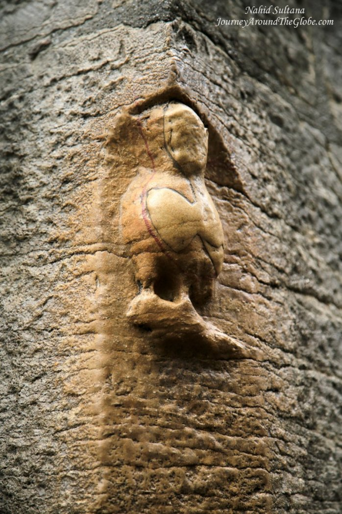 Owl is the icon of Dijon in France, this particular owl is located outside Notre Dame Church, one of the earliest owls of this town, from the 16th century