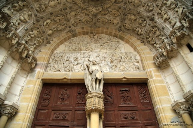 Gorgeous carvings on the main entrance of St. Michel Church in Dijon, France