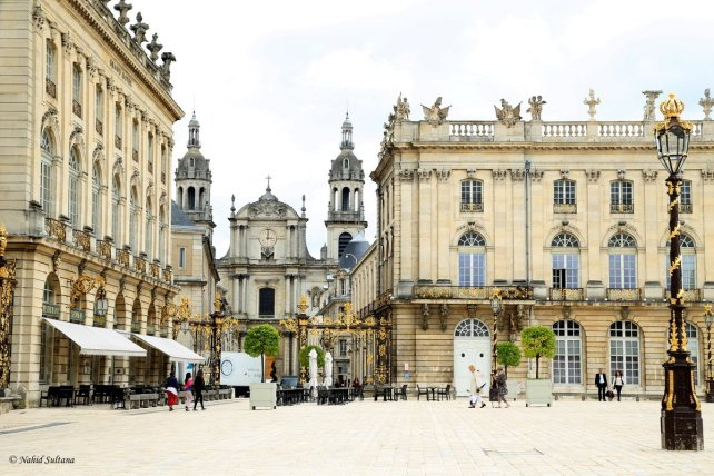 Place Stanislas in Nancy, France...you can see Cathedral of Nancy from the square