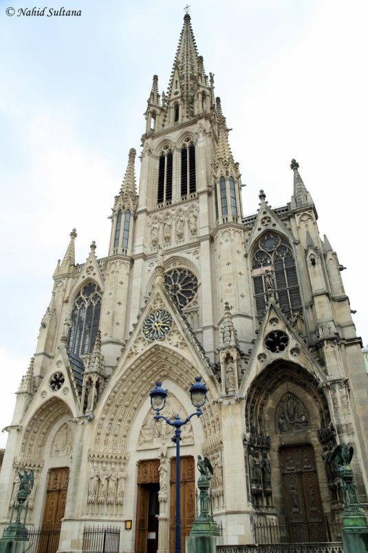 Exterior of La Basilique St. Epure in Nancy, France. It was built by many architects and artists from all over Europe in 1871.