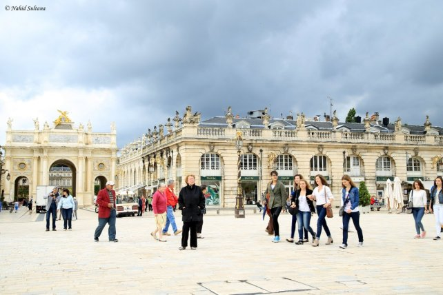 Arc Here at one side of Place Stanislas in Nancy, France