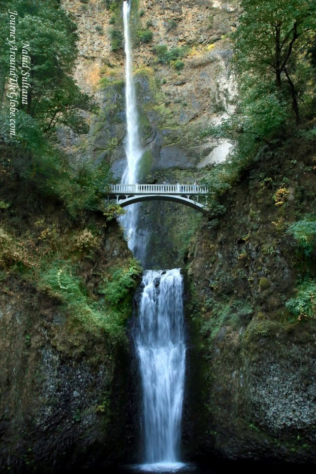 Multnomah Falls in Oregon, USA...nation's 2nd highest year-round water falls