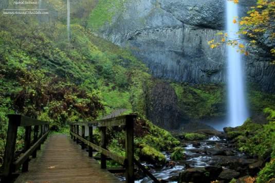 Latourell Falls - a gem of Columbia River Gorge in Oregon