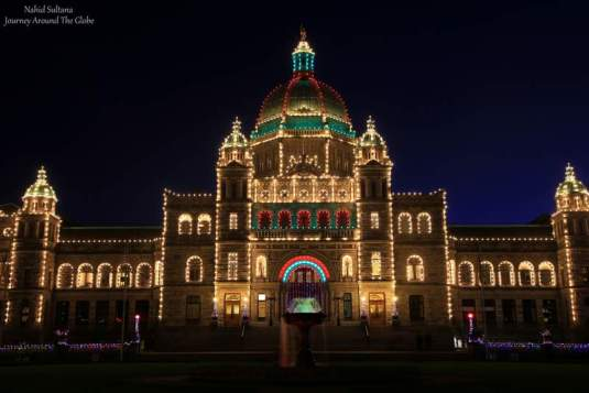 British Columbia Provincial Parliament in the heart of Victoria, Canada