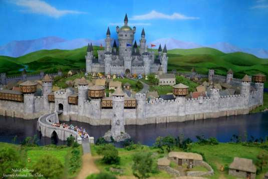 A mini-castle inside Miniature World in Victoria, Canada