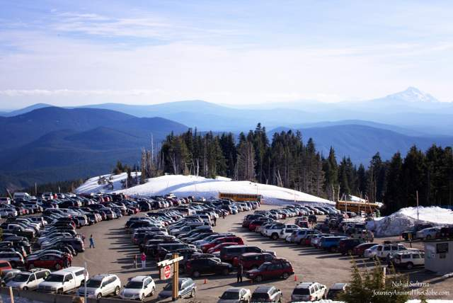 View of Mt. Jefferon from Timberline Lodge, Mt. Hood in Oregon