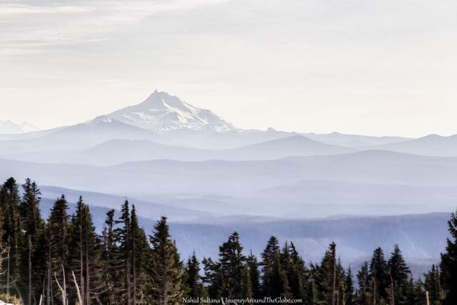 Another glimpse of Mt. Jefferson in the distance, view from Timberline Lodge, Mt. Hood