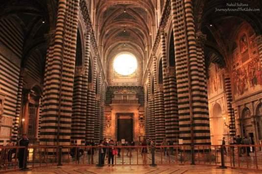 Inside Siena Duomo in Italy