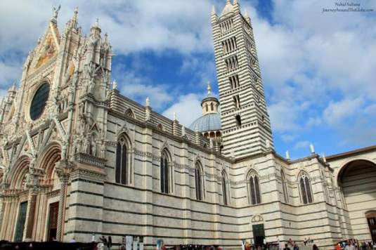 Magnificent exterior of Siena Duomo in Italy