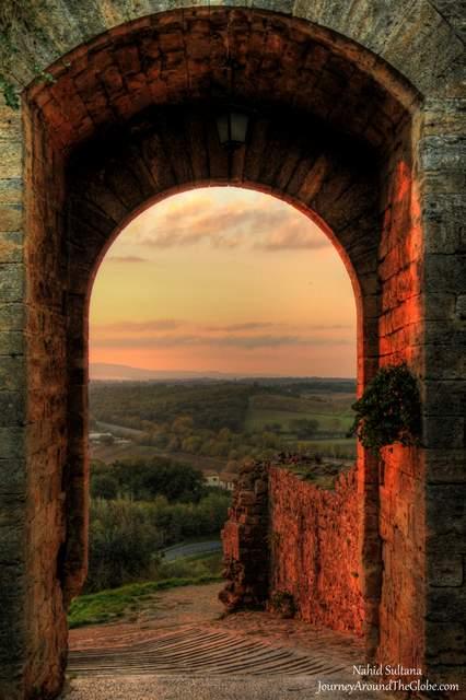 Sunset in Montereggioni, Italy