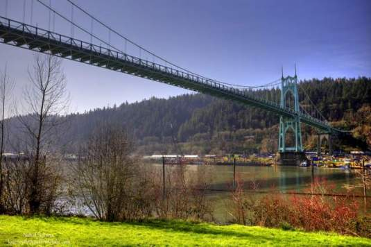 Historic St. John's Bridge in Portland, Oregon