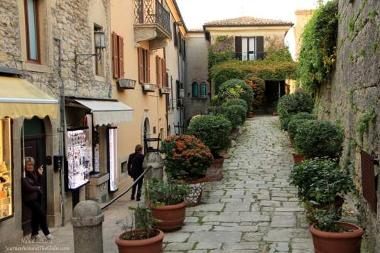 Walking thru the old cobble-stoned alleys of San Marino