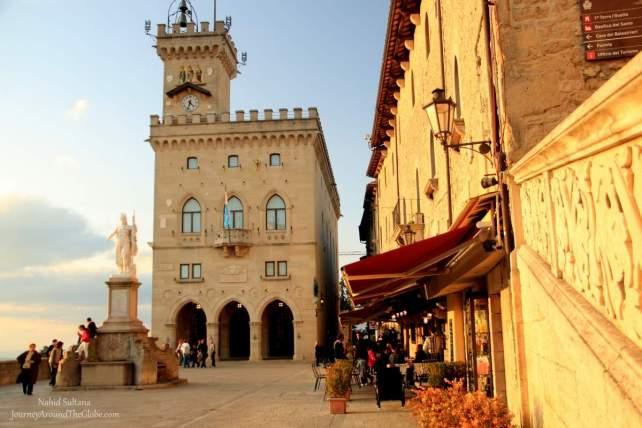 PIAZZA della LIBERTA or PIAZZA PUBLICA in the Old Town of San Marino